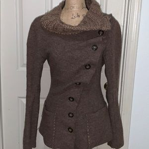 Anthropologie Gro Abrahamsson small brown sweater